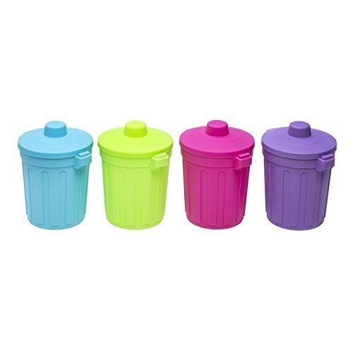 Tischabfalleimer Mini Mülleimer Abfalleimer mit Deckel Kosmetikeimer Behälter Eimer (Pink)