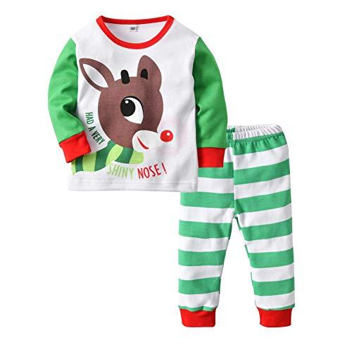 Baby Weihnachten Pyjama Set Boy Girl Nachtwäsche Kind Schlafanzug