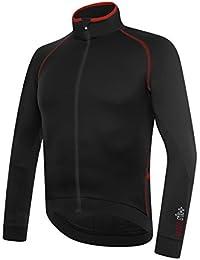 RH + Zero LS JERSEY nerorosso S, camisetas (Ciclismo) Hombre, Black-Red, S