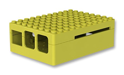 Price comparison product image Pi-Blox Case for Raspberry Pi 3 & Raspberry Pi 2 Model B & Pi Camera (Yellow)