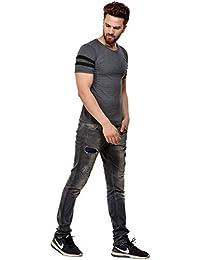 JSCK Fashionable Round Neck Cotton T-shirt For Men