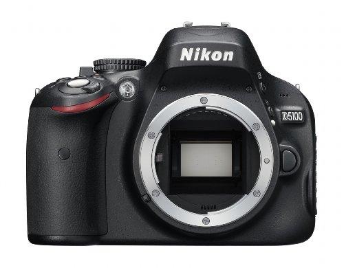 Nikon D5100 SLR-Digitalkamera (16 Megapixel, 7.5 cm (3 Zoll) schwenk- und drehbarer Monitor, Live-View, Full-HD-Videofunktion) Gehäuse - Nikon Objektiven Mit Slr-kamera