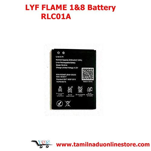 TOS Reliance Lyf Flame 1 & Lyf Flame 8 Battery RLC-01A 1lCP5/55/73