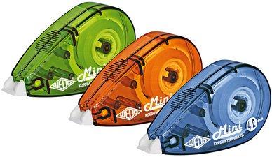 WEDO Korrekturroller Mini, 4, 2 mm x 6 m, farbig sortiert