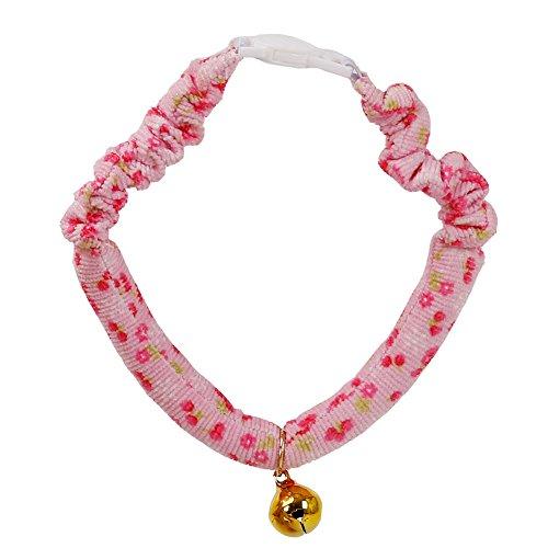 ETbotu Pretty Pet Cat Bell Halsband Schal Süßer Hund Halskette Pet Supplies (groß) Rose -