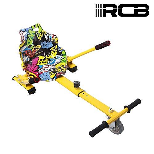 RCB Hoverkart für Hoverboard Zubehör für selbstausgeglichenes Scooter Go Kart Längenverstellbar Kompatibel mit Allen Hoverboards - 6,5/8 / 8,5/10 Zoll für Erwachsene und Kinder