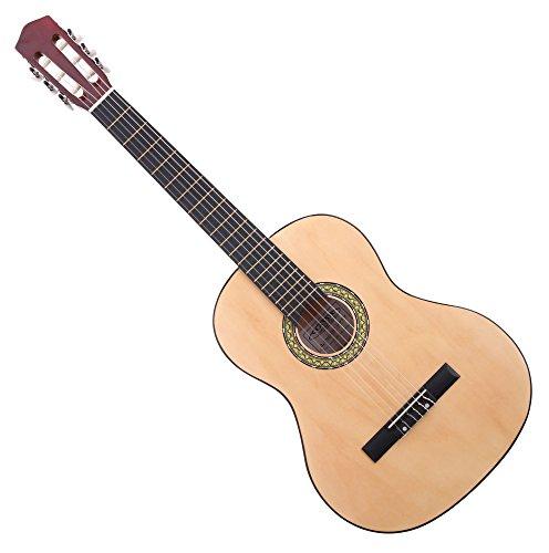 Classic Cantabile Acoustic Series AS-851-L Klassikgitarre 4/4 für Linkshänder (Jugendliche & Erwachsene, Einsteiger, 6 Saiten, Konzertgitarre, Akustikgitarre) natur
