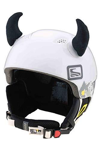 Hörner | Helmmütze Helm-Ohren Helm Aufkleber | Teufel Hörner, CrazyEars:Schwarze Hörner Klein (6cm) ()