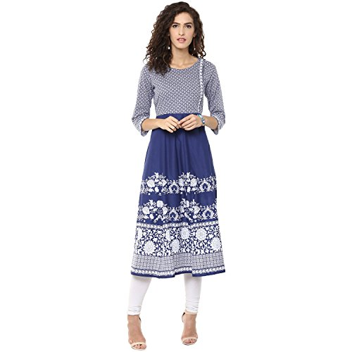 Bhama Couture Printed Women's Anarkali Kurta