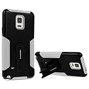 Galaxy Note 4 Case, HAWEEL® Note 4 Case, Samsung Galaxy Note 4 Case with Stand - Dual Layer TPU Plastic Combo Case with Kickstand for Samsung Galaxy Note 4 / N910, Black