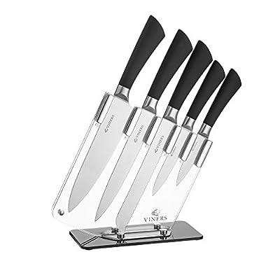 Viners 0305.001 Knife Block Set, Acrylic Transparent