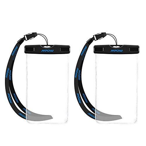Mpow-2-Unidades-Funda-Impermeable-de-iPhone-6s-6-5s-Huawei-P8-Lite-Bq-aquaris-x5-Xiaomi-Bolsa-IPX8-Certificado-Impermeable-Transparent-Funda-Playa-para-Movl-Universal-de-6-Pulgadas