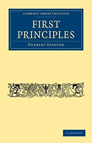 [(First Principles)] [By (author) Herbert Spencer] published on (September, 2009)