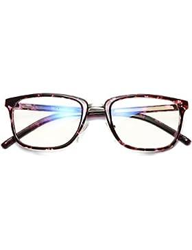 Hombres Vidrios transparentes de la lente - TR90 Marco ultra-ligero Marco azul claro de los vidrios de la lente...