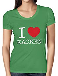 TEXLAB - I Love kacken - Damen T-Shirt