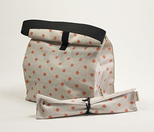 bolsa-de-almuerzo-y-funda-de-cubiertos-estampado-topos-color-coral-bolsa-reutilizable-para-llevar-la