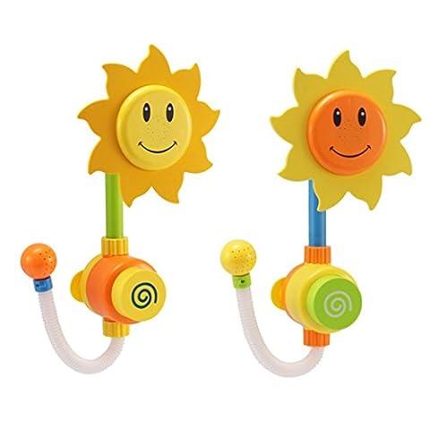 Jouets de bain, Chickwin Baignoire de douche à tournesol Jouer à Toys for Baby Kids Gift (Couleur envoyée au hasard)
