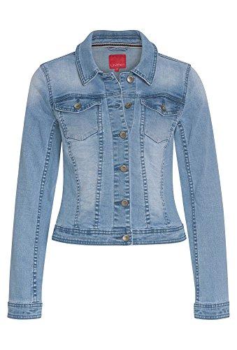 LIVRE Moderne Jeansjacke - Damen Damenjeansjacke lässig coole Jacke Damen Frühlingsjacke Sommerjacke Denim Jacke hellblau,44