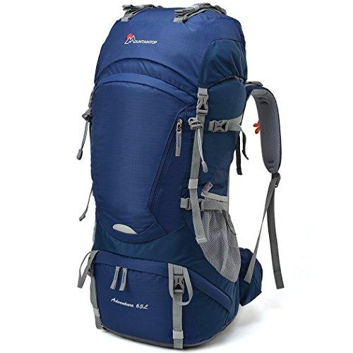MOUNTAINTOP 55L/65+5L Trekkingrucksack Wanderrucksäcke für Camping, Wandern, Bergsteigen, Reisen mit Regenhülle (Rucksack Lowe Alpine Damen)