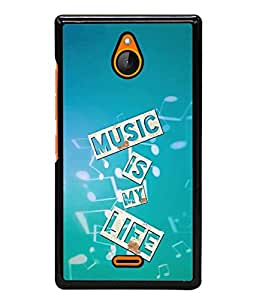 PrintVisa Designer Back Case Cover for Nokia X2 (Music is my life quote)