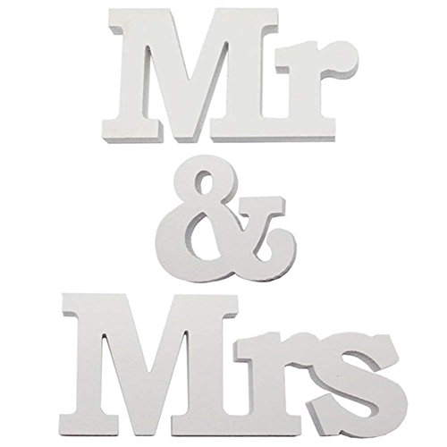 Décoration de Mariage de Lettres Mr & Mrs Décoration de Table-1 Ensemble (Type 1)