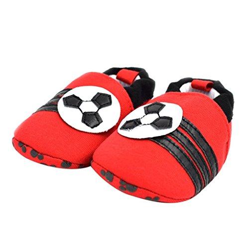 Babyschuhe Longra Baby jungen Mädchen Prewalker Anti-Rutsch-Soft Sole Sneaker Lauflernschuhe krabbelschuhe(0-18Monate ) Red