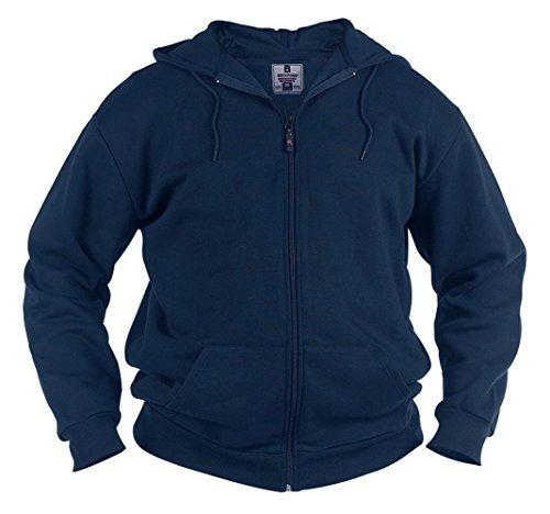 Duke Kapuzen-Sweatshirt-Jacke, Herren, Uni Basic Reißverschluss Blau - Blau