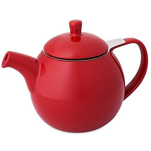 FORLIFE Curve 0.7L Teekanne mit Sieb - Farbe: rot