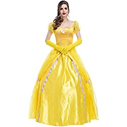 Disfraz de Princesa Para Mujer Cosplay Vestido Halloween Carnaval Talla M