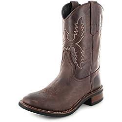 Sendra Boots 11615 - Botas De Vaquero de cuero unisex, color marrón, talla 44