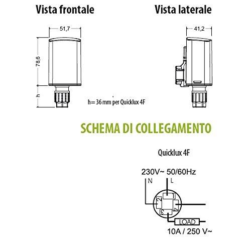 Interruttori Crepuscolari Vemer.Interruttore Crepuscolare Da Pareto E Palo Quicklux 4f A 4