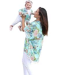 Ropa para padres e hijos , ❤ Amlaiworld Mamá y yo bebé niñas Cárdigan kimono