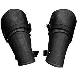 laurelxi Brazales Medievales Cuero Guantes De Cuero Protectores De Brazo Al Aire Libre De Moda Pulsera De Cuero Medieval Cosplay Protector De Manos, 22 Cm