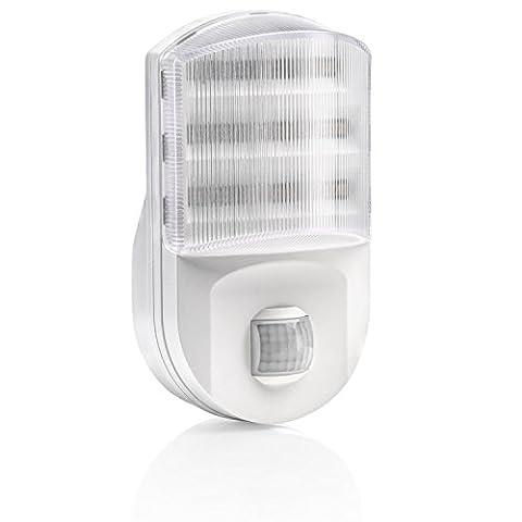 Auraglow Eurostecker Superhelles LED-Nachtlicht / Sicherheitslicht mit PIR-Bewegungssensor