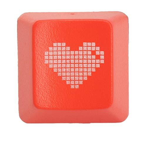 Fash Lady Rotes Herz R4 Esc ABS-lichtdurchlässige hintergrundbeleuchtete Tastenkappen für mechanische Spiel-TastaturÂ