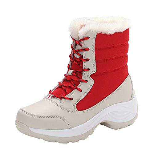 Bazhahei donna scarpa,ragazza scarponi da neve impermeabile scarpe di caldi,invernali/autunno tacchi alti scarpe singole stivaletti a tubo centrale casual con tacco basso stivale