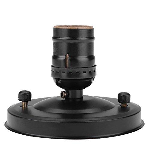 Fdit E27 Sockel Adapter E26 / E27 Vintage Industrie Decke/Wandleuchte Basis Fassung Deckenfassung Halter Pendelleuchte Lampe Schraube Buchse Lampenfassung Adapter DIY Lampenzubehör(schwarz) -