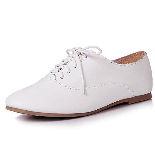Atmungsaktiv Schnürhalbschuhe Modische Schuhe Weiß Weich Leicht Rundzeheb Damen Freizeitschuhe qIxSFF