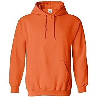 X-SMALL Orange classic plain pullover hoodie unsex and these are ideal for mens and ladies hooded sweatshirt