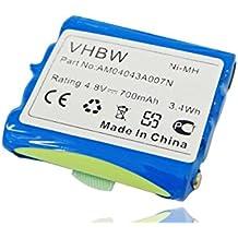 Batería NI-MH 700mAh 4.8V compatible con MIDLAND G6, G8, M24, M48, M99, M99 Plus, Alan 441, 443, 5006, Reer 5005 Scopi, 5006 Scopi reemplaza PB-G8