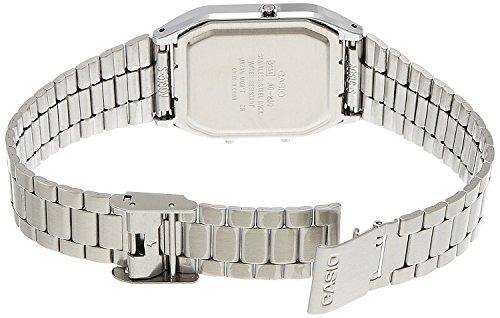 Casio Unisex- Armbanduhr Analog – Digital Quarz Retro Dual - 5