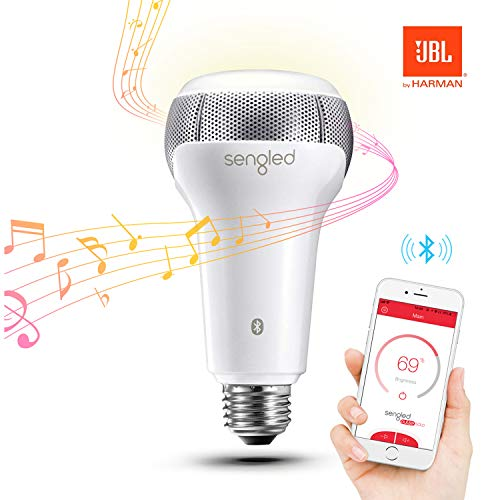 Sengled Solo Bluetooth Lautsprecher Smarte LED Lampe E27, Dimmbar, Erweiterung, Steuerbar via App, Kompatibel mit Amazon Alexa, Licht Lampe[Energieklasse A+]