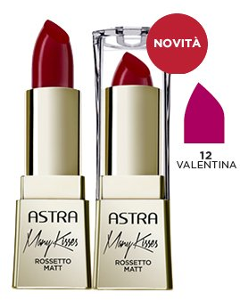 ASTRA Many kisses 12 valentina rossetto* - Cosmetici