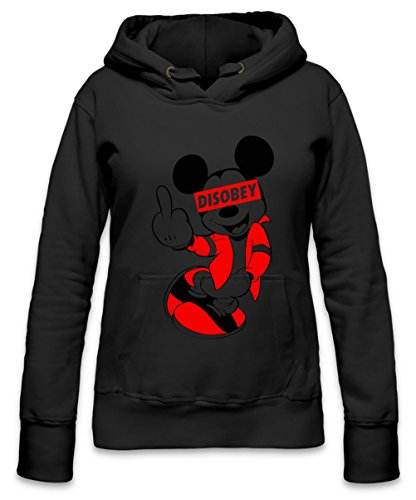 DISOBEY Mickey Mouse Womens Hoodie X-Large (Mickey Beanie Mouse)