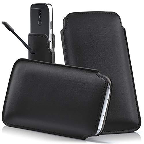 moex VERNEE M6 | Hülle Schwarz Sleeve Slide Cover Ultra-Slim Schutzhülle Dünn Handyhülle für VERNEE M6 Case Full Body Handytasche Kunst-Leder Tasche