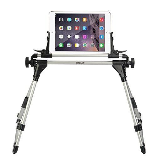 Iegeek supporto universale per tablet Supporto regolabile, richiudibile, supporto per tablet, ruotabile e orientabile, lavoro per iPad, iPhone, Samsung, Tablet, Smartphone Android, progettato da utilizzare sul letto, divano, scrivania, ecc.