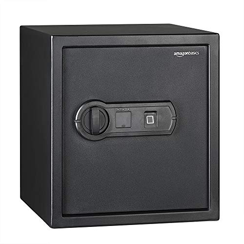 AmazonBasics - Biometrischer Tresor mit Fingerabdruck-Verschlusssystem, 30 l
