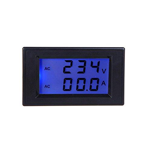Sypure (TM) Voltimetro Digital LCD Tension Mètre testeur Ampèremètre Voltmètre Mini Transformateur de courant Ac80-300 V Affichage double écran Amperimetro
