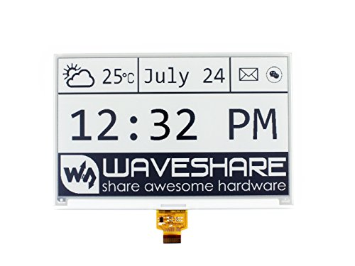 Waveshare 7.5 Inch E-paper Raw Display Panel 640x384 Resolution 3.3V E-Ink Electronic Paper Screen without PCB with Embedded Controller,Communicating via SPI interface