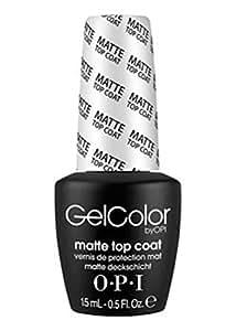 Vernis à ongles LED/UV OPI Gel Couleur 15ML - TOP COAT Matte - 100% gel authenic - livraison gratuite
